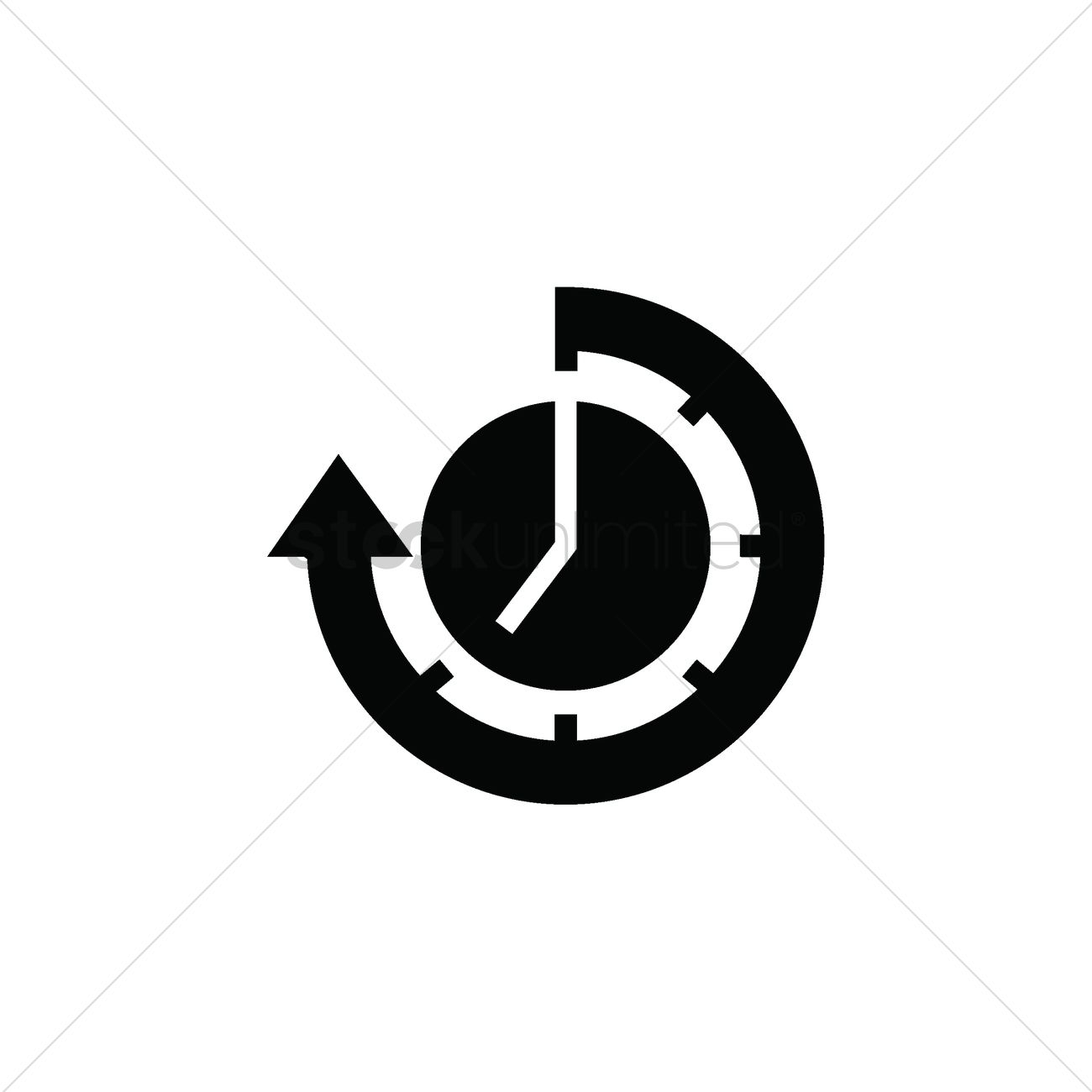 Icon vector image stockunlimited. Clock with arrow clipart