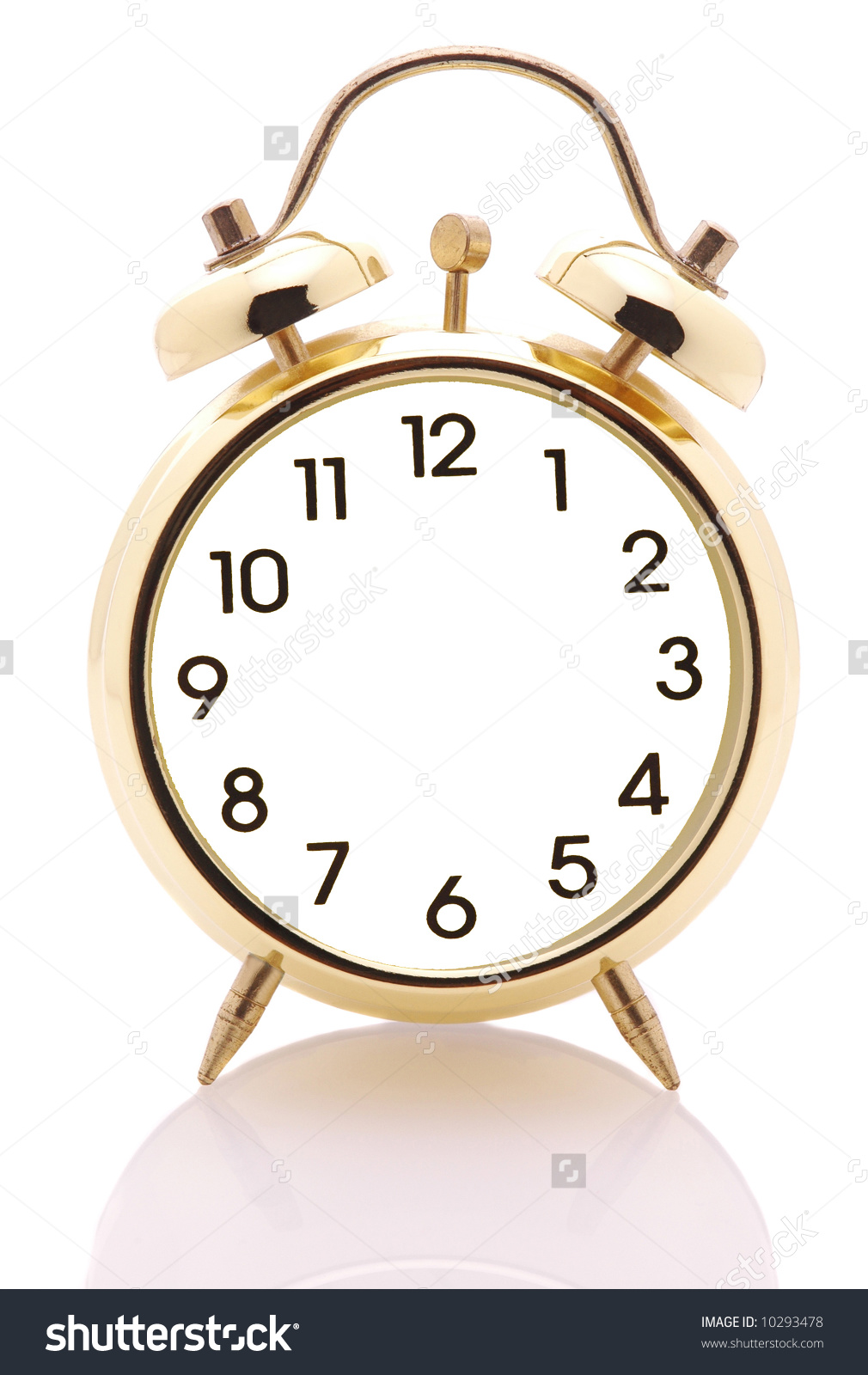 Clock with no hands clipart jpg transparent library Alarm Clock No Hands Isolated Over Stock Photo 10293478 - Shutterstock jpg transparent library