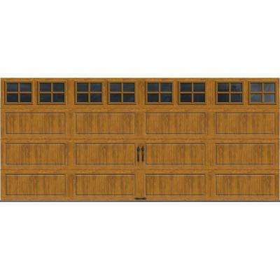 Clopay clipart graphic royalty free stock Gallery Collection 16 ft. x 7 ft. 6.5 R-Value Insulated Ultra-Grain Medium  Garage Door with SQ22 Window graphic royalty free stock