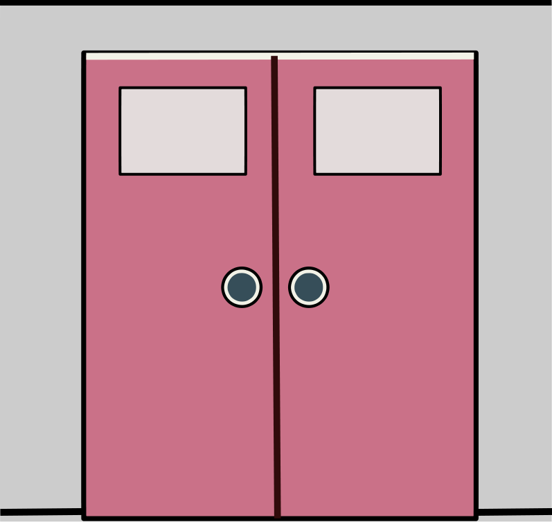Closed double door clipart png royalty free Double door clipart - ClipartFest png royalty free