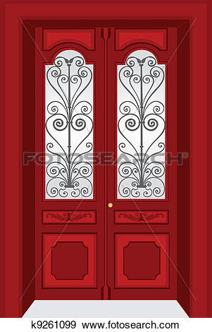 Closed double door clipart clip art freeuse stock Double door Clip Art Royalty Free. 608 double door clipart vector ... clip art freeuse stock