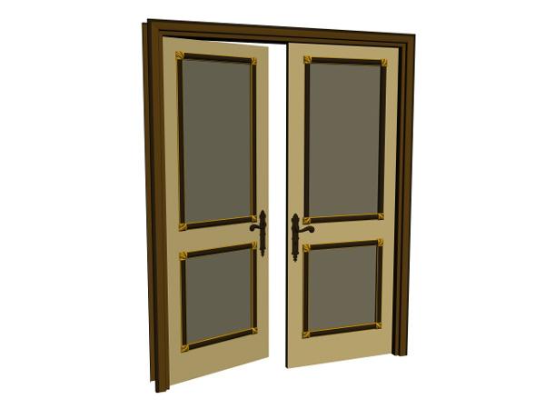 Closed double door clipart svg transparent Wooden double door clipart - ClipartFest svg transparent