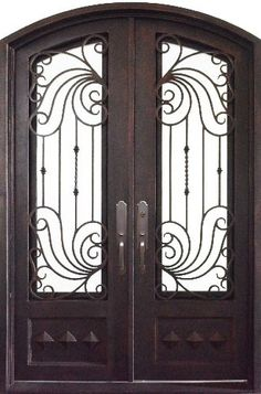 Closed double door clipart picture royalty free stock Beautiful custom wrought iron double entry door. | Home sweet Home ... picture royalty free stock