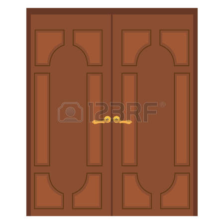 Closed double door clipart image library library Wooden double door clipart - ClipartFest image library library