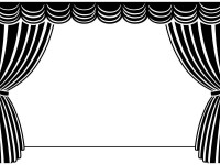 Closed stage curtains clipart black and white clip freeuse download Stage Curtains Clipart Group with 54+ items clip freeuse download