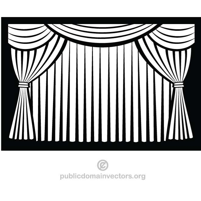 Closed stage curtains clipart black and white clip art transparent library BLACK AND WHITE CURTAIN - Free vector image in AI and EPS format. clip art transparent library