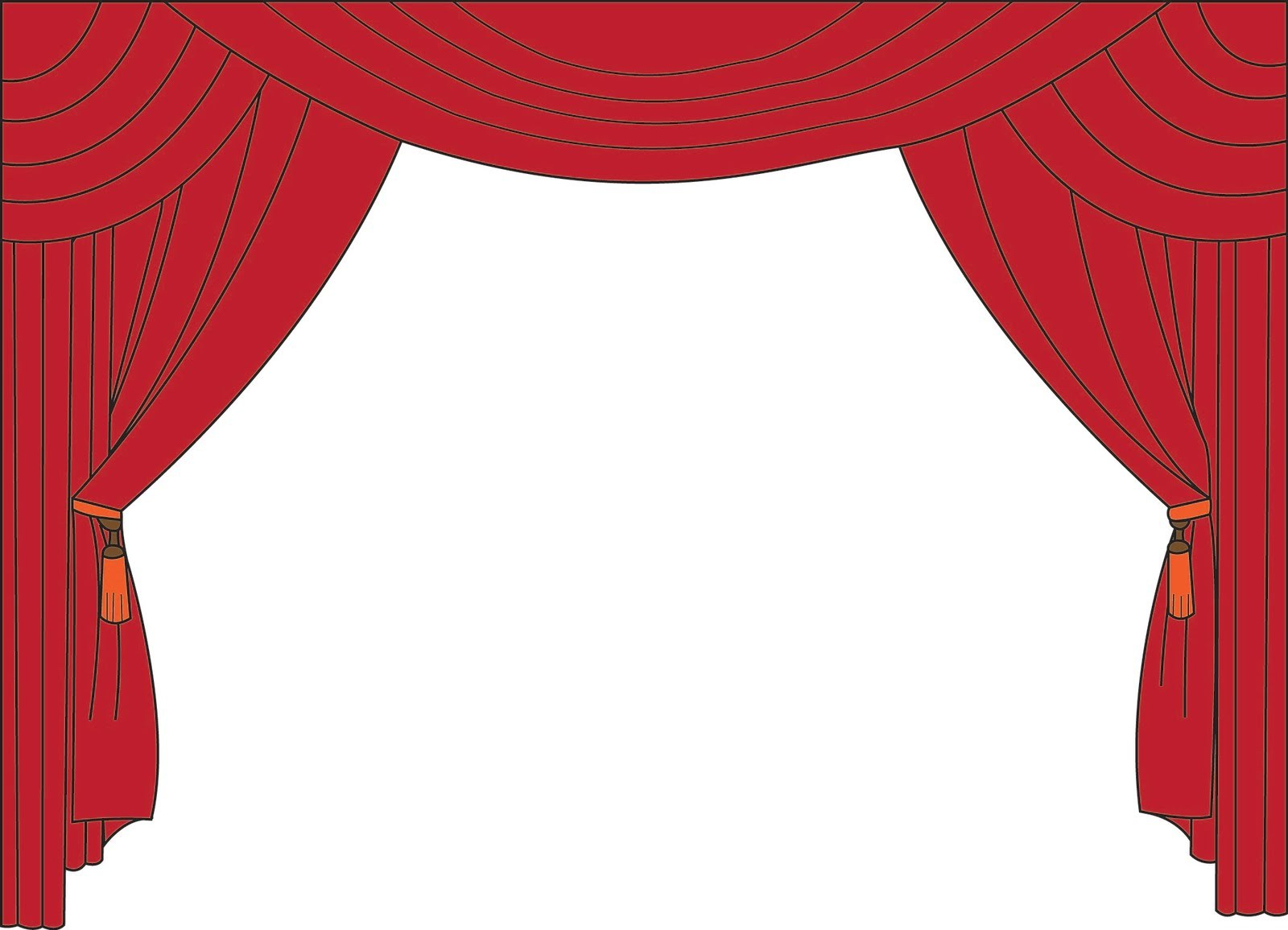 Closed stage curtains clipart black and white svg free stock Stage curtains clipart black and white 1 » Clipart Portal svg free stock