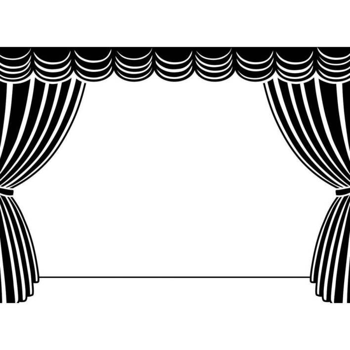 Closed stage curtains clipart black and white graphic download Stage Curtains Drawing | Free download best Stage Curtains Drawing ... graphic download