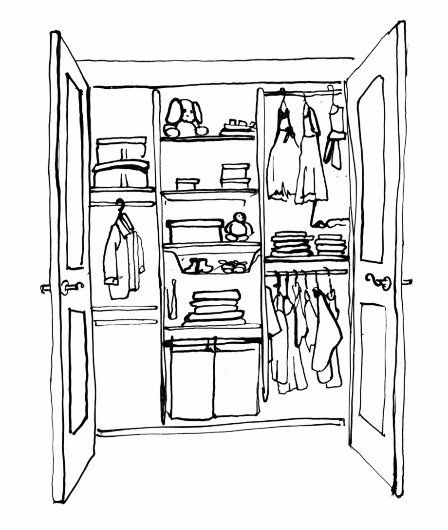 Closet clipart black and white clip art black and white download Clothes Closet Clipart - Clothes Closet Clipart Black And White Free ... clip art black and white download