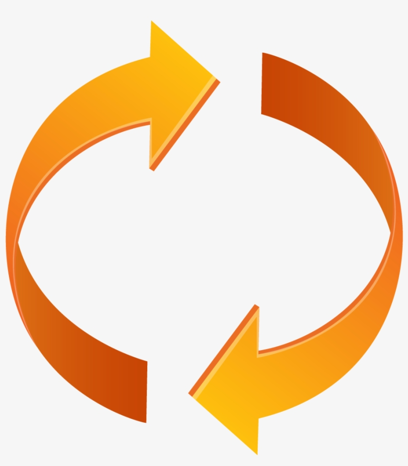 Closing the loop clipart png transparent library Loop - Circle With Arrows Orange PNG Image | Transparent PNG Free ... png transparent library
