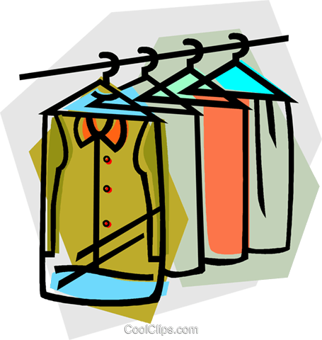 Clothers cleaner clipart graphic library stock clothes at the dry cleaners Royalty Free Vector Clip Art ... graphic library stock