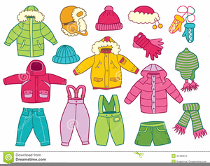 Children winter clothes images. Free clothing clipart