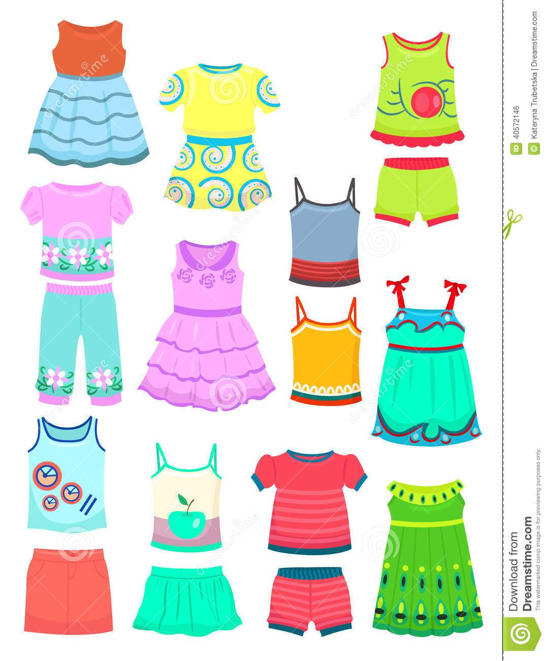 Summer clothes clipart free image royalty free download Girls clothes clipart 3 » Clipart Portal image royalty free download