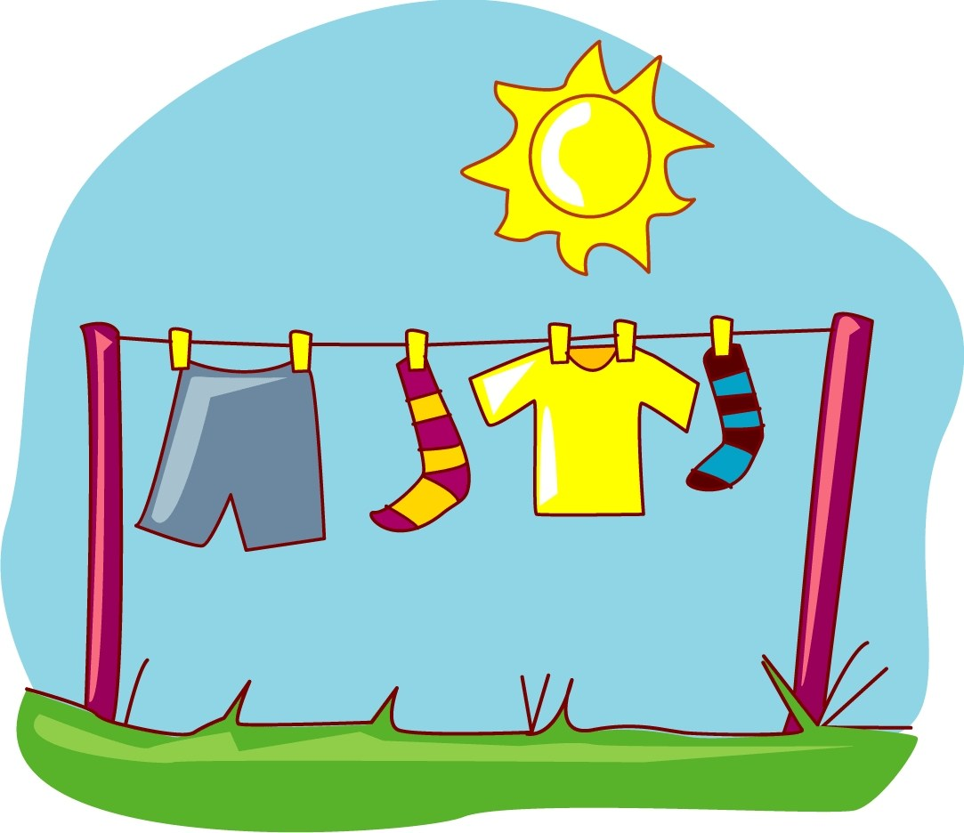 Clothes hanging clipart