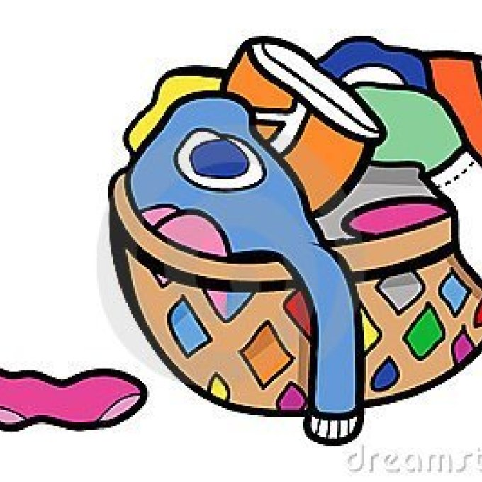 Clothes in hamper clipart graphic stock Dirty Clothes Hamper Clipart, Laundry Basket With Clothes Clip Art ... graphic stock