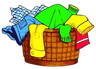 Clothes in hamper clipart picture black and white Laundry Basket Clipart Clipartsco, Laundry Basket With Clothes Clip ... picture black and white