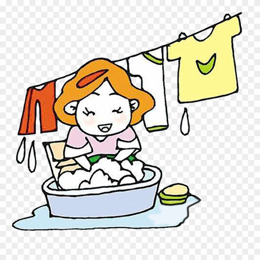 Wash laundry clipart