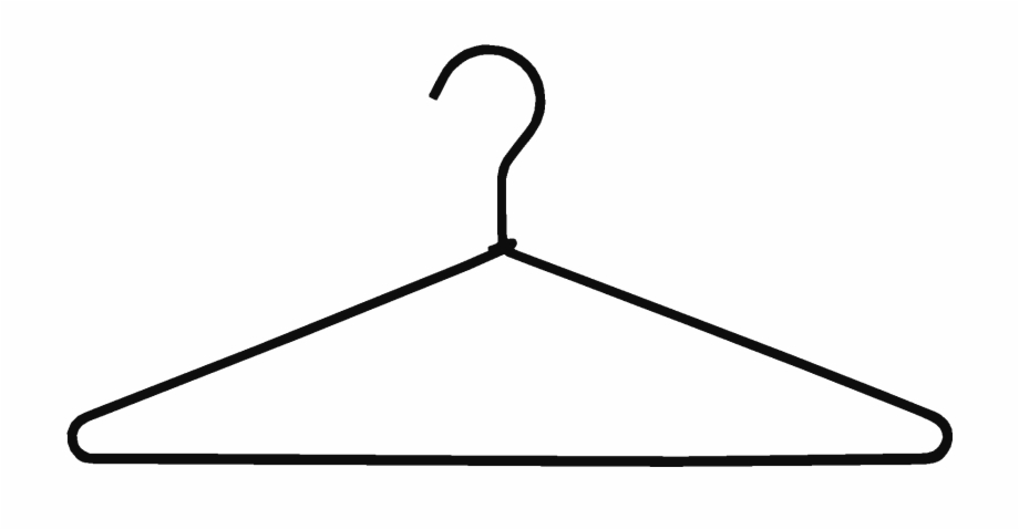 Hanger clipart black and white