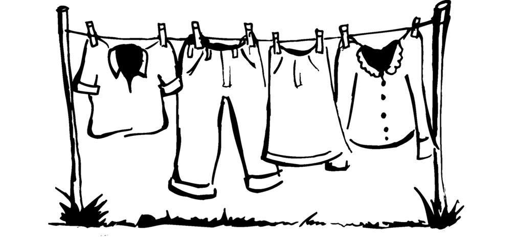Washing cloth by hand clipart black and white clip black and white library Clothesline Line Drawing | The Clothesline | Cartoon pics, Washing ... clip black and white library