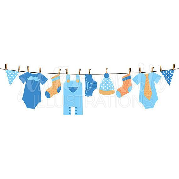 Clothes on clothesline clipart graphic freeuse Clothes Illustration Clotheslines - Baby Boy Clothesline Cute ... graphic freeuse