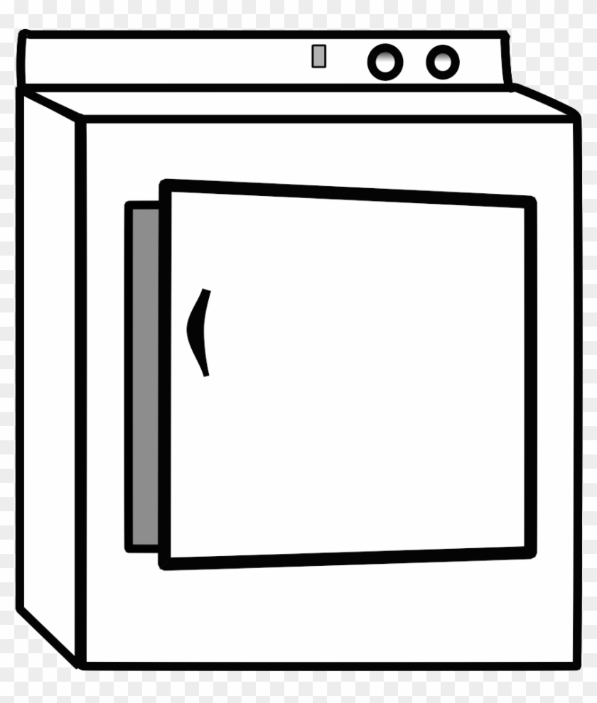 Clothesdryer clipart image library download Transparent Doors Illustration - Clothes Dryer Clipart Black And ... image library download