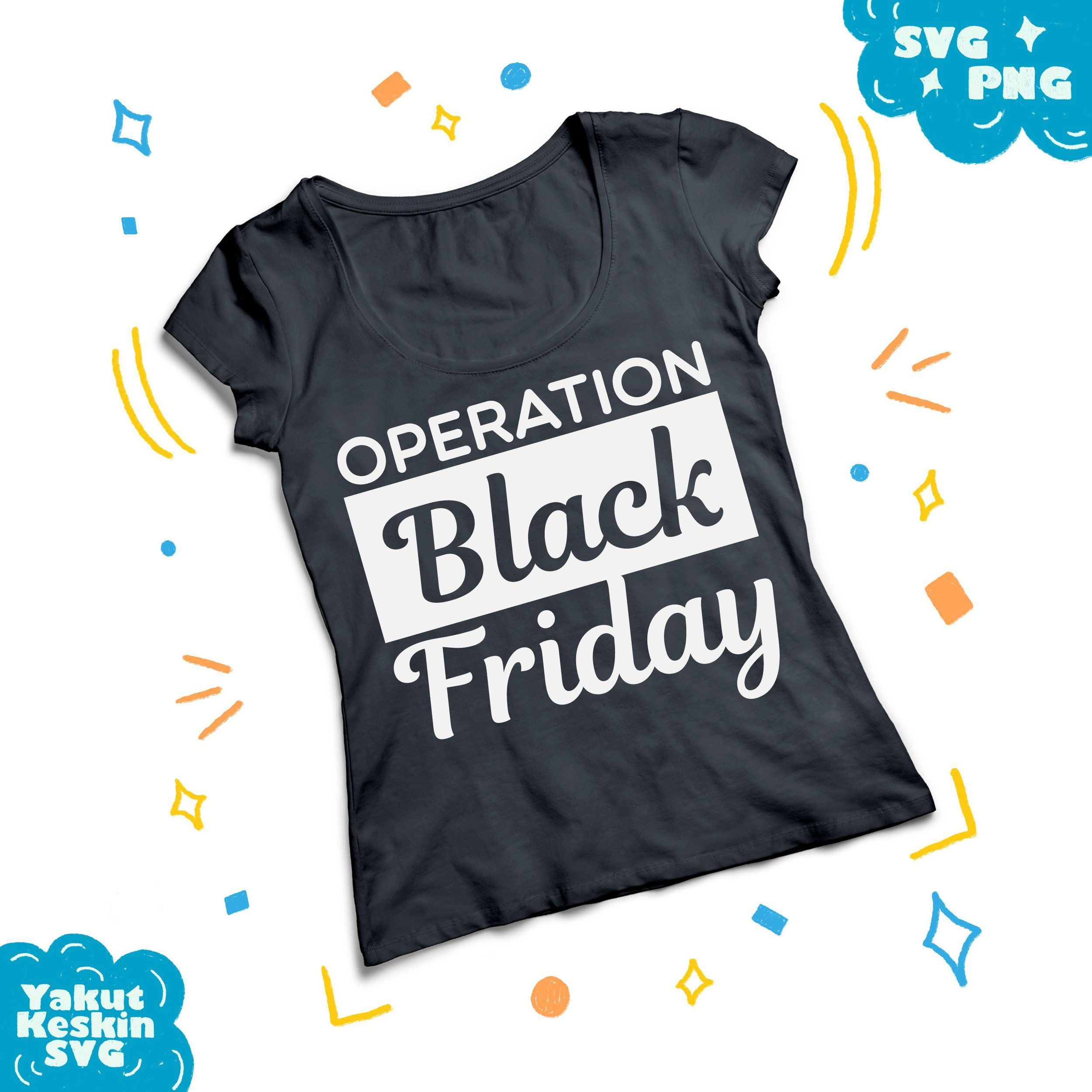 Clothing items shirt clipart banner stock Operation black Friday SVG funny black friday deals shopping shirt ... banner stock