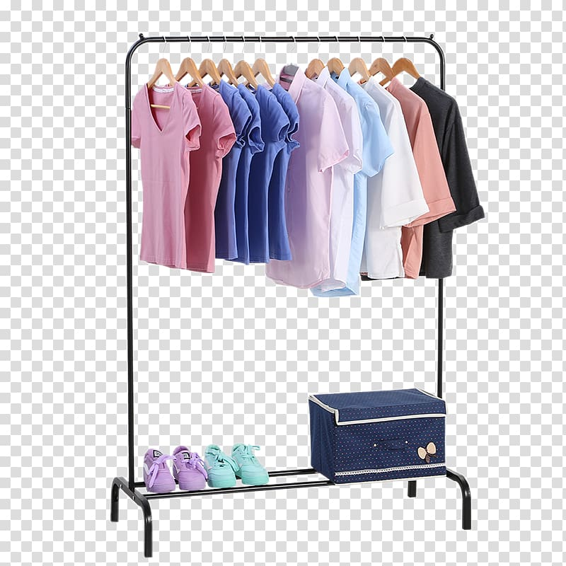 Clothing rack clipart svg transparent download Girl\'s assorted-color T-shirts illustration, Vintage clothing Coat ... svg transparent download