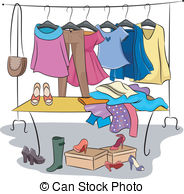 Clothing rack clipart clip art free stock Clothing rack Vector Clipart Royalty Free. 3,960 Clothing rack clip ... clip art free stock