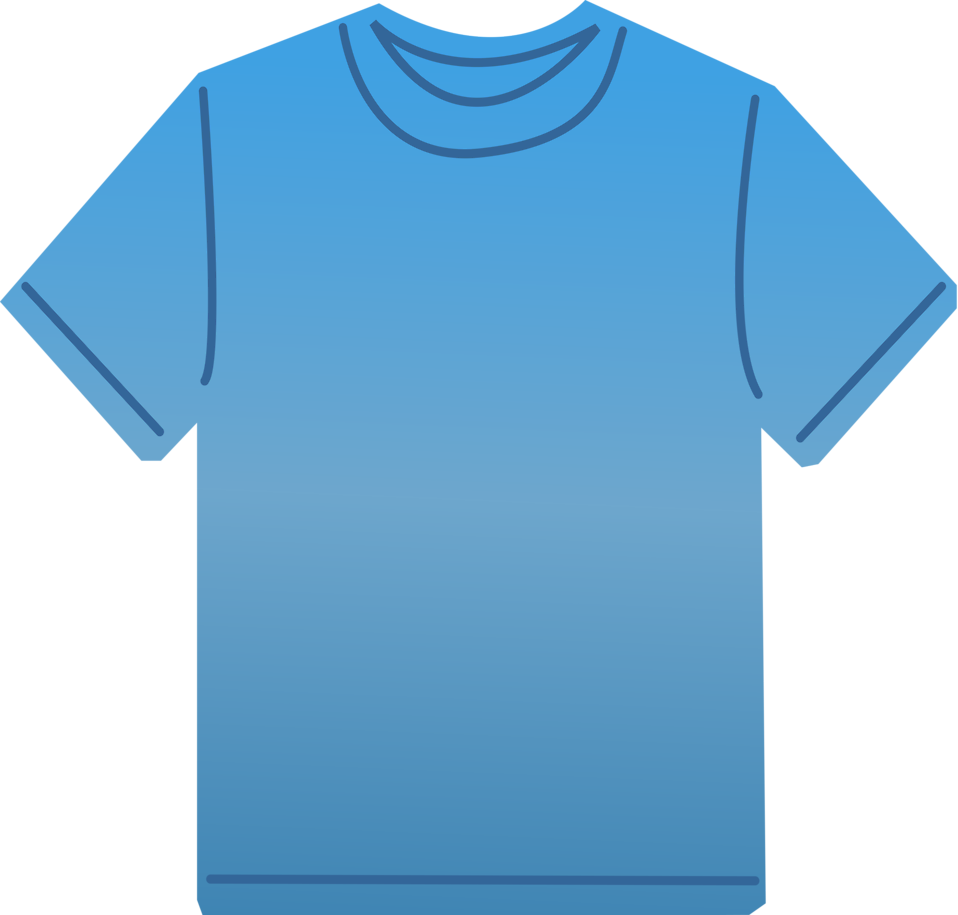 Clothing templates clipart vector transparent T-shirt | Free Stock Photo | Illustration of a blank blue t-shirt ... vector transparent