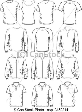 Clothing templates clipart clip art black and white library Clothes templates Vector Clipart Royalty Free. 46,517 Clothes ... clip art black and white library