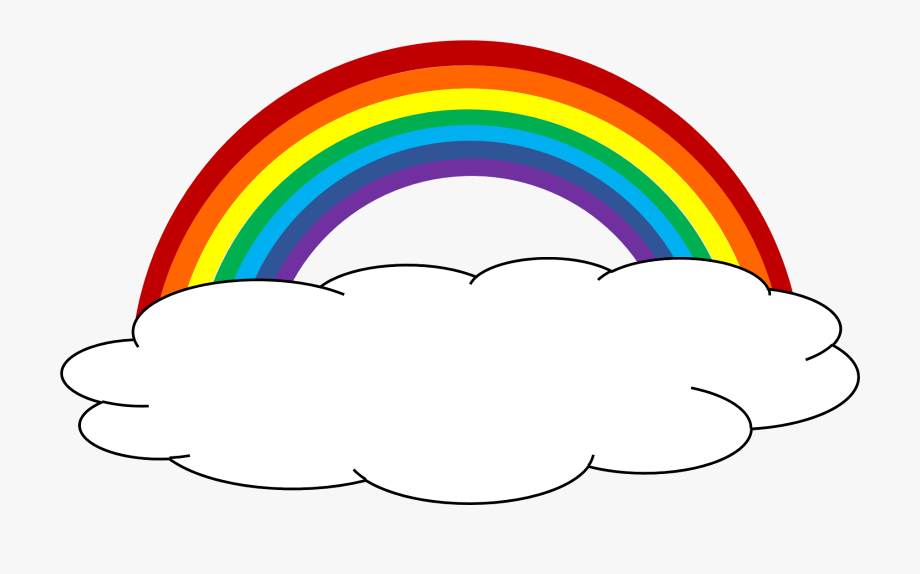 Cloud and rainbow clipart graphic library Color Clipart Cloud Party Pinterest - Cloud With Rainbow Clipart ... graphic library