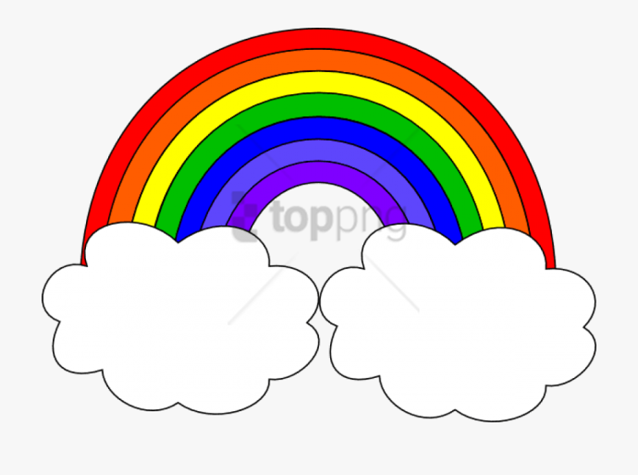 Rainbows clipart png freeuse stock Rainbow Clipart Clear Background - Rainbow With Clouds Clip Art ... png freeuse stock