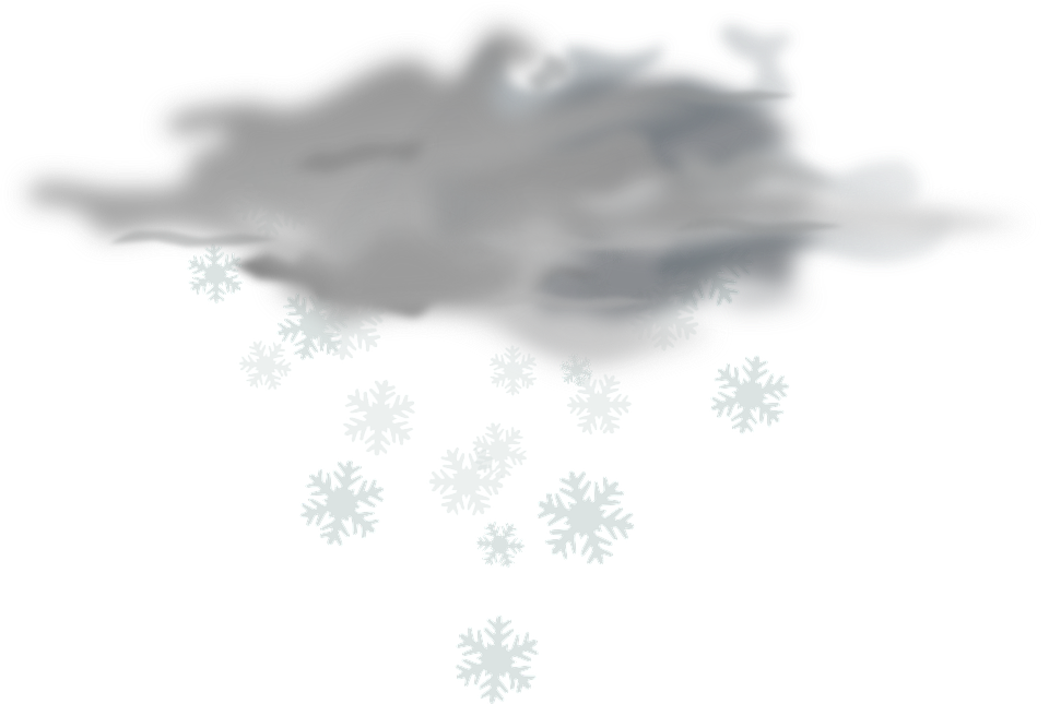 Cloud and snowflake clipart image black and white library Snow Cloud PNG Black And White Transparent Snow Cloud Black And ... image black and white library
