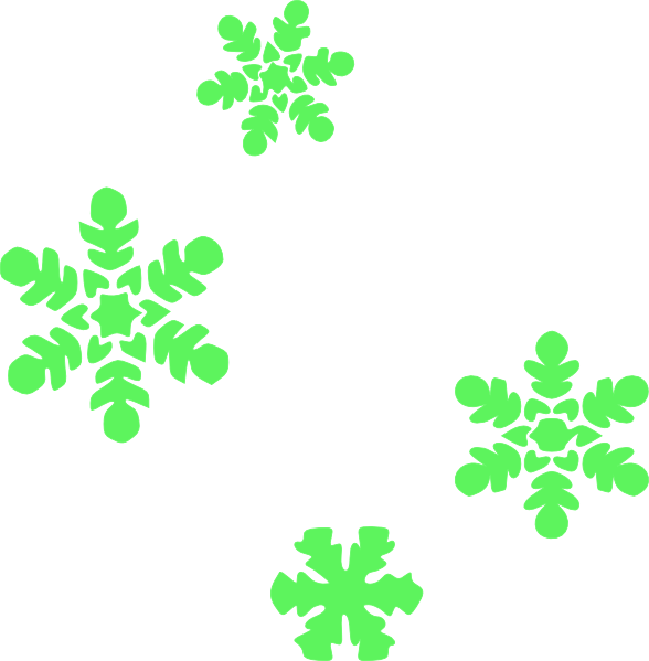 Green snowflake clipart picture transparent download Light Green Snowflakes Clip Art at Clker.com - vector clip art ... picture transparent download