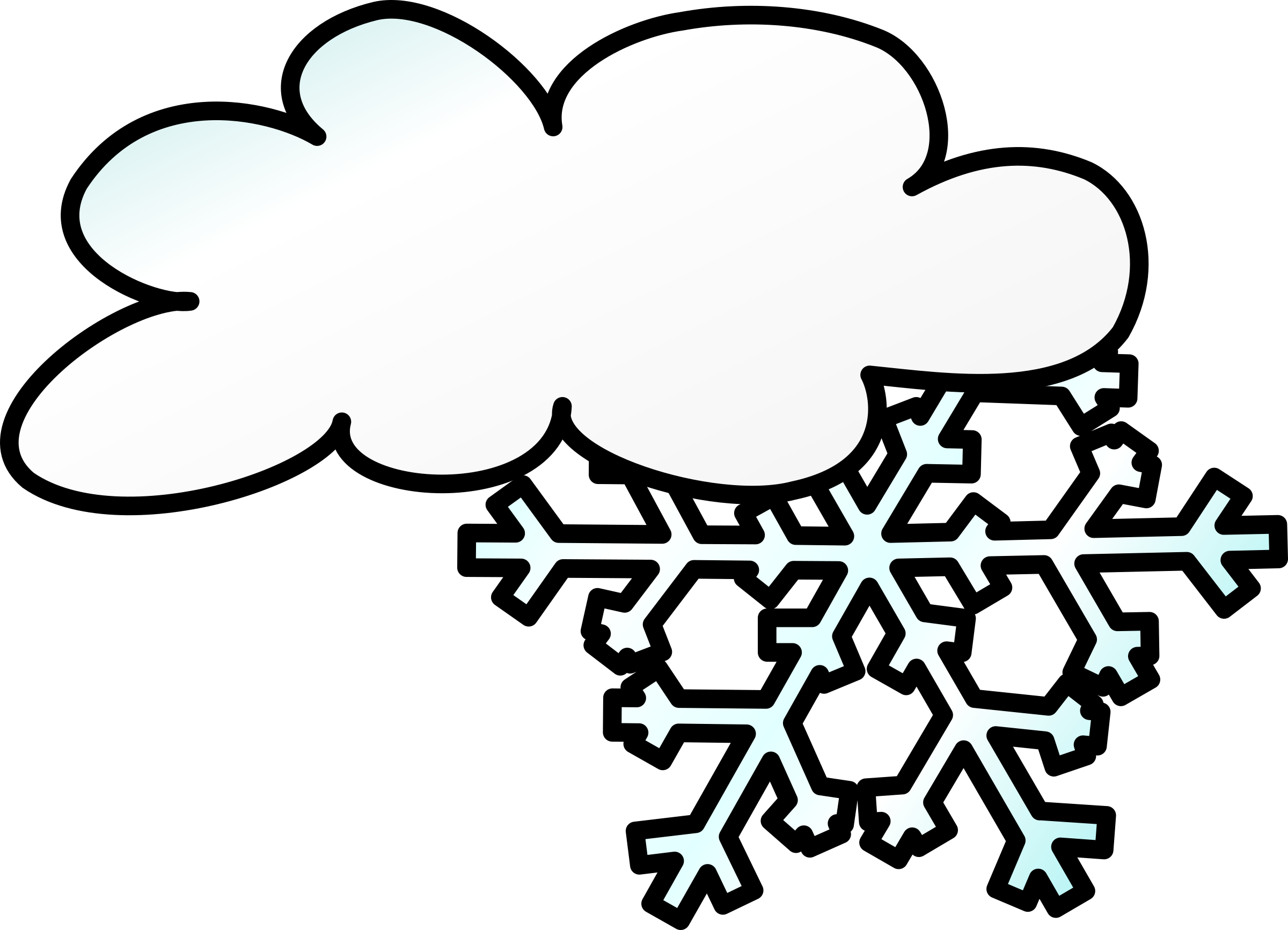 Snowflake falling clipart black and white png library download Clipart - Weather Symbols: Snow Storm png library download