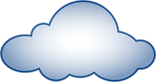 Cloud blue clipart clipart black and white download Blue Cloud Clip Art at Clker.com - vector clip art online, royalty ... clipart black and white download
