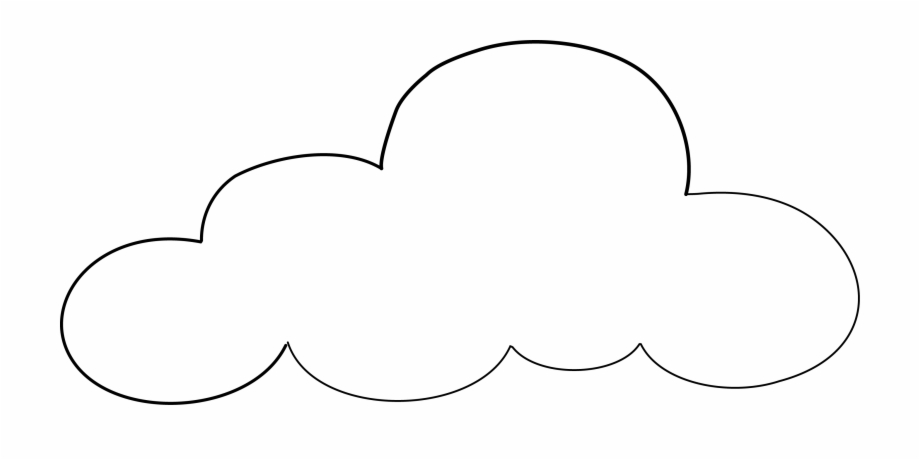 Cloud clipart transparent clip art library stock Cloud Outline Png - Cloud Transparent Background Clipart Free PNG ... clip art library stock