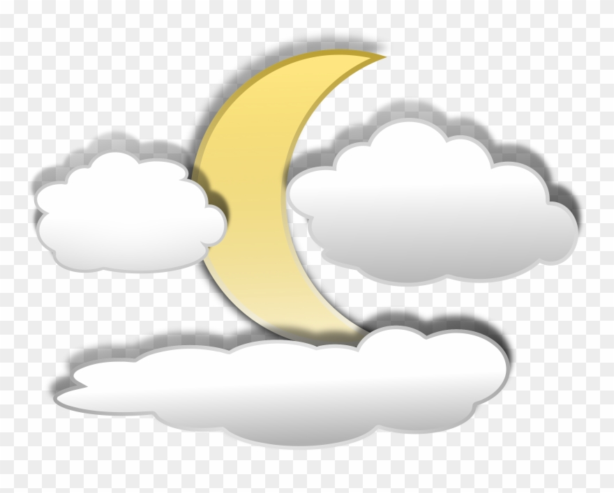Cloud moon clipart jpg library library Cloud Clipart - Moon Clipart - Png Download (#8901) - PinClipart jpg library library