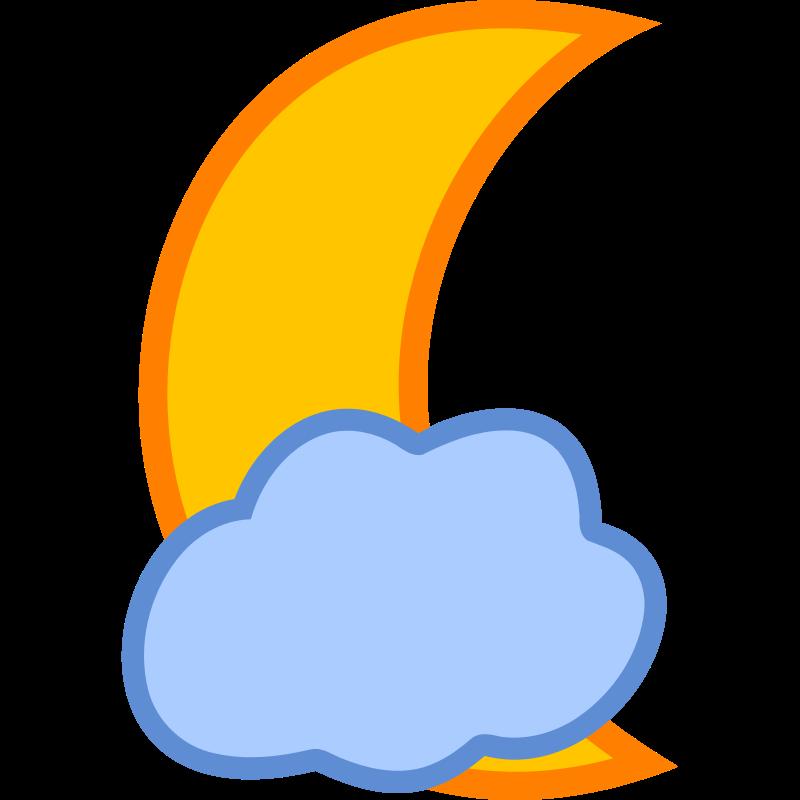 Cloud moon clipart transparent download Clipart - Cloud Covered Moon | Stickers | Clouds, Clip art, Cover transparent download