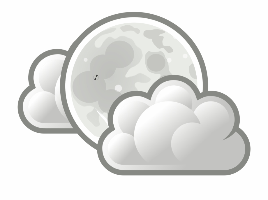 Cloud moon clipart picture royalty free download Rain And Snow Mixed Weather Cloud Computer Icons - Moon With Clouds ... picture royalty free download