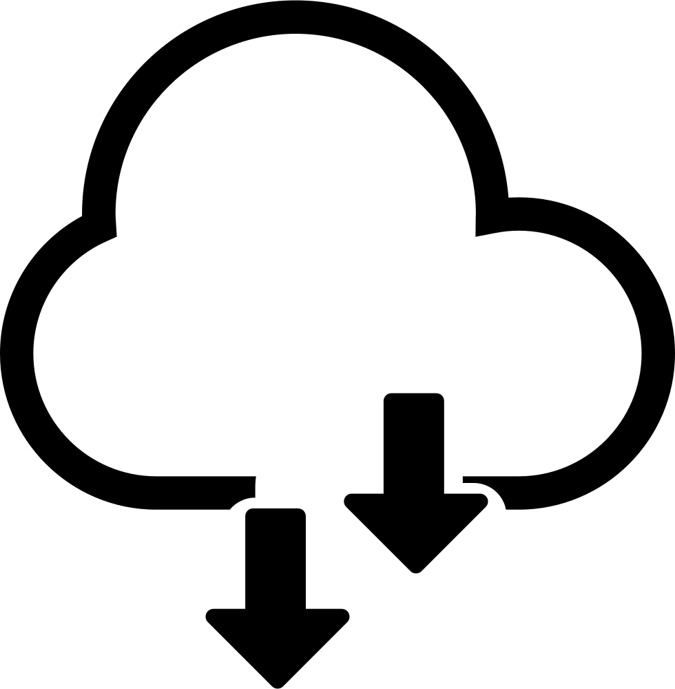 Cloud storage icon clipart picture free library HD Cloud Storage Downloading Option Comments - Cloud Storage Icon ... picture free library