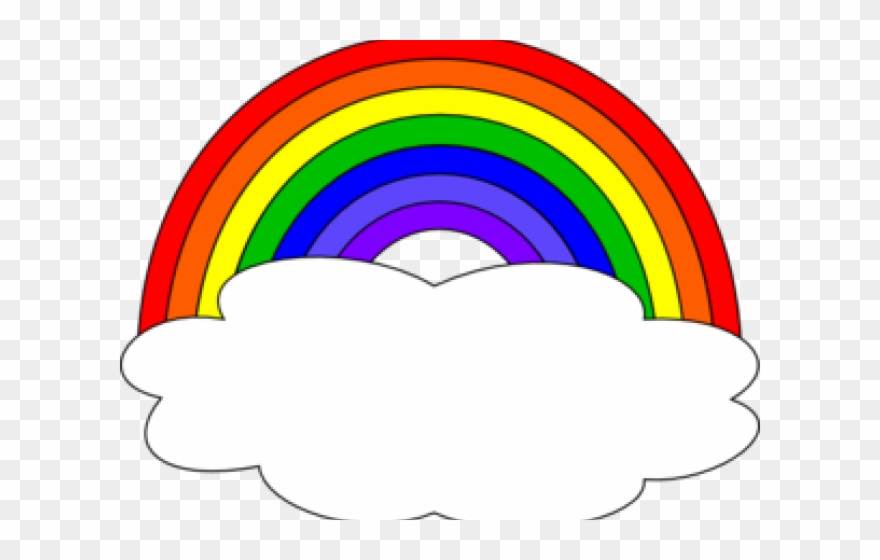 Cloud with rainbow clipart picture free stock Cloud Clipart Rainbow - Clipart Rainbow - Png Download (#2076190 ... picture free stock
