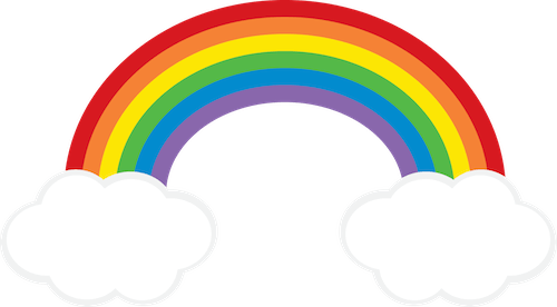 Rainbow and clouds clipart clipart royalty free library Rainbow Cloud clipart FREEBIE from GO Designs at ... clipart royalty free library