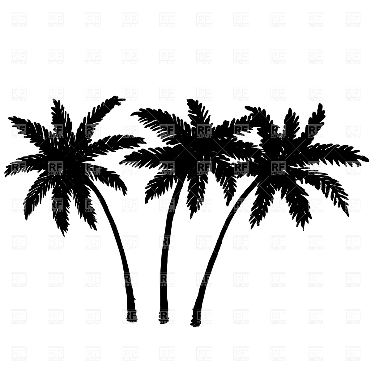 Cloudless clipart jpg freeuse library Two palm trees and cloudless sky, 503, Travel, download free - Clip ... jpg freeuse library