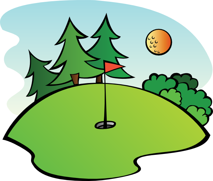 Cloudless clipart clip black and white Free Golf Clipart and Animations clip black and white