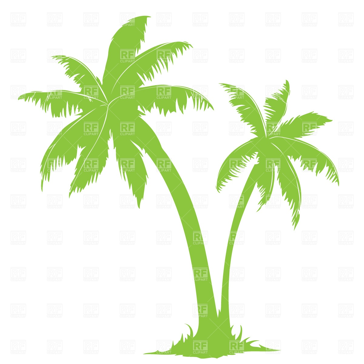 Cloudless clipart svg freeuse library Two palm trees and cloudless sky, 503, Travel, download free - Clip ... svg freeuse library