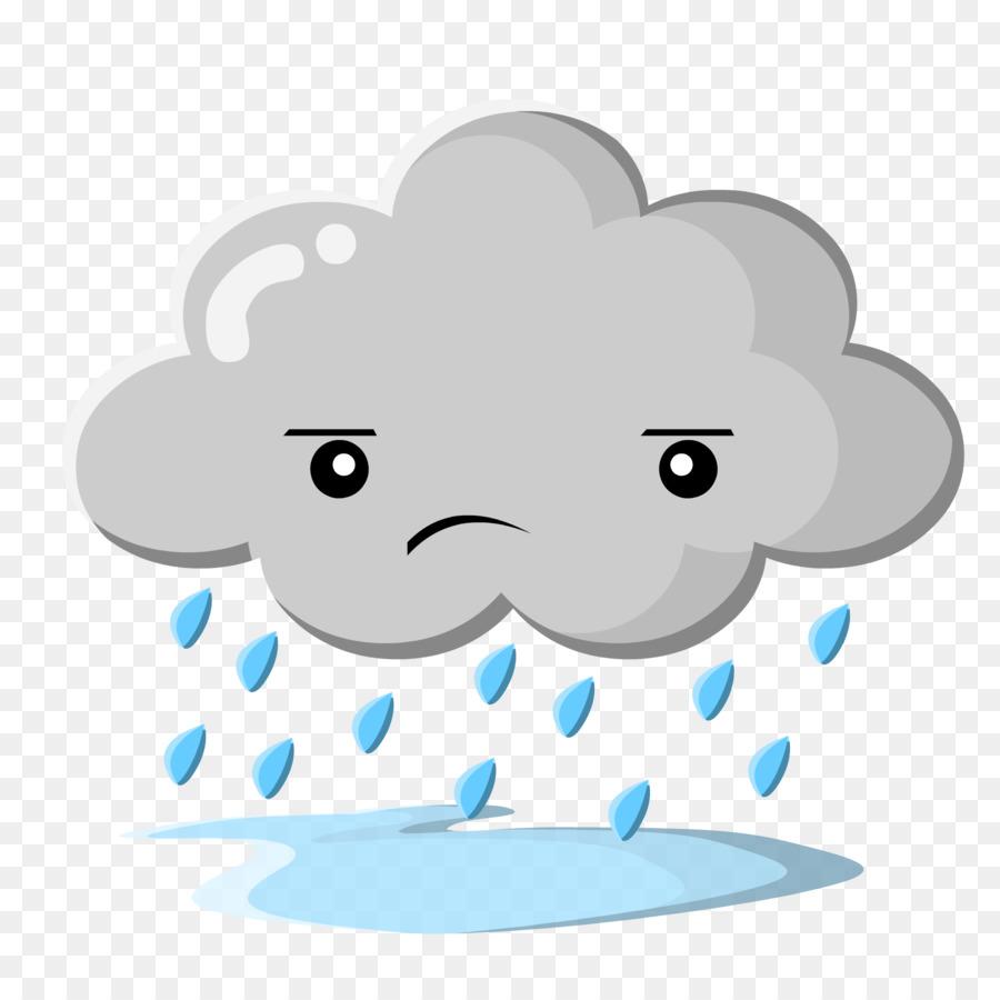 Clouds and rain clipart clip art transparent stock Rain Cloud Clipart png download - 2000*2000 - Free Transparent Rain ... clip art transparent stock