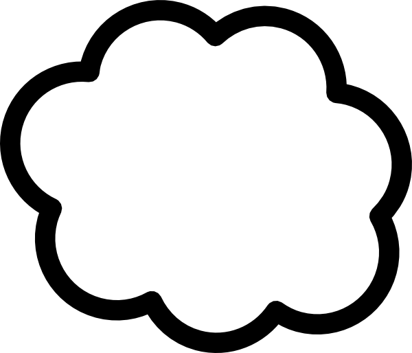 Clouds and sun clipart black and white royalty free White Cloud Clip Art at Clker.com - vector clip art online, royalty ... royalty free