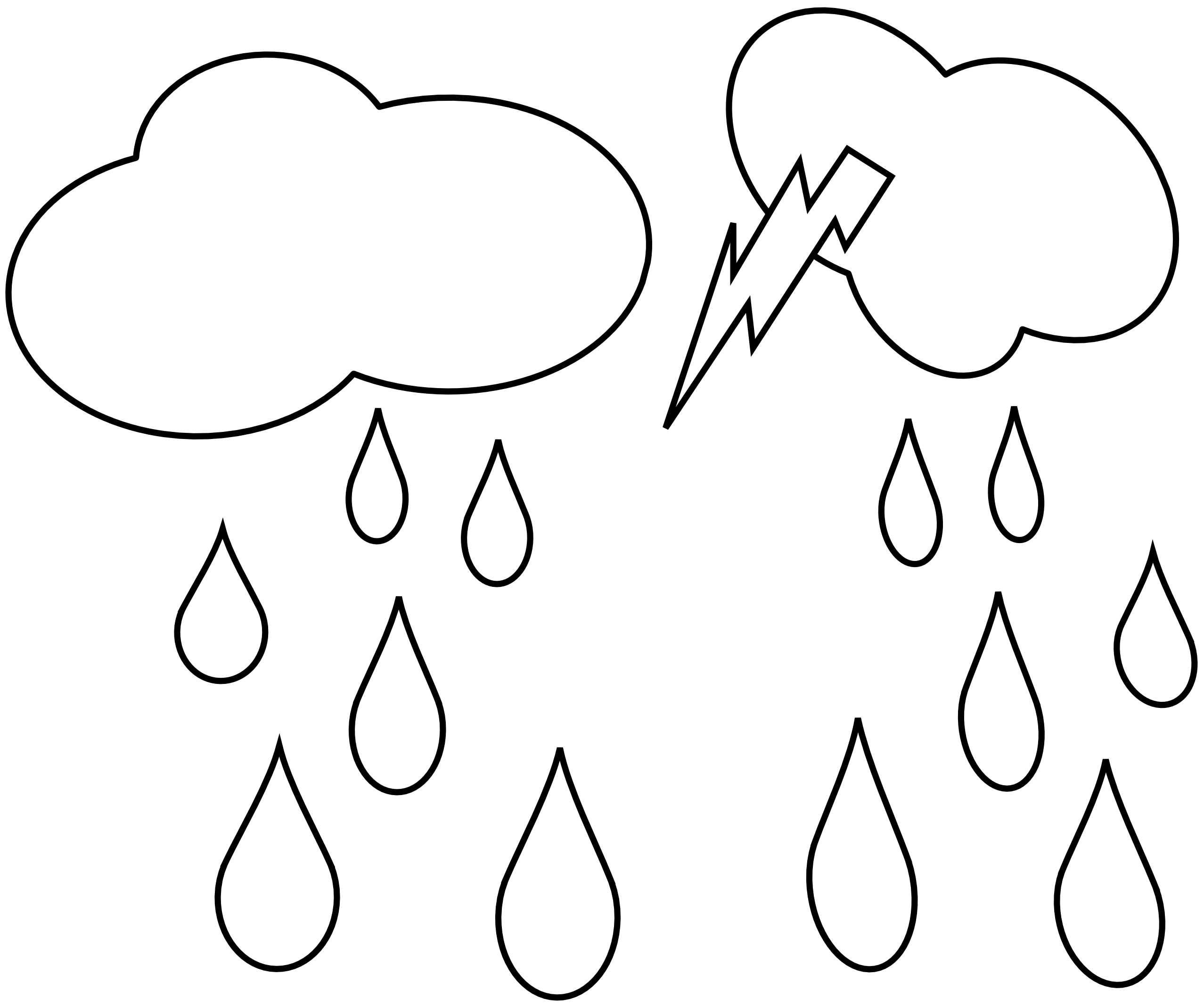 Clouds and sun clipart black and white clip art black and white download Rain Cloud Clipart Black And White | Clipart Panda - Free Clipart Images clip art black and white download