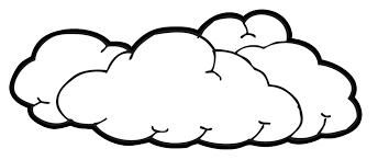 Clouds black and white clipart image royalty free download Image result for traceable clouds | nate bday party | Cloud drawing ... image royalty free download